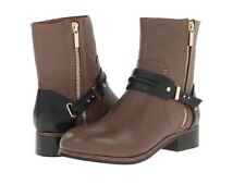 Rachel Roy Womens NEW Cruz Leather Mid Calf Boots Taupe/Black 10 B(M)US Og$395