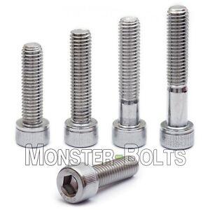 M2.5-0.45 x 16mm Stainless Steel Socket Head Cap Screws Metric DIN 912 A2 Coarse