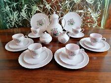 HUTSCHENREUTHER Porcelaine Rose ANGELIQUE, edles 21- teiliges Kaffeeservice