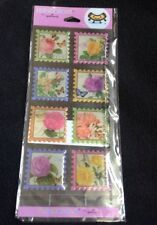 Flower Epoxy Scrapbook Stickers Sheets From Hallmark 1 Sheet 8 Stickers
