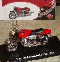 NORTON COMMANDO 750 1969 CLASSIC MOTORBIKE  - 1:24 - BOXED WITH DISPLAY STAND