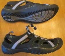 d7d7e07cc9e0e7 Jeep J-41 Adventure BLACK GREY BUNGEE CORD Water Ready Shoes Mens Sz 8 -