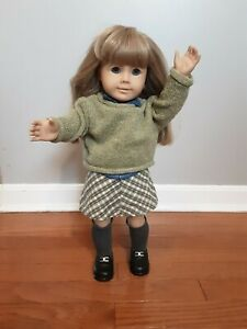 1986 American Girl Doll w/ Artist Mark in Retired Perfectly Plaid Outfit EUC