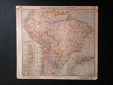 BRASILE, ARGENTINA, CILE (Tavola atlante - Pennesi, Almagià - Paravia - 1937)