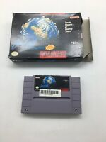 SimEarth the Living Planet Super Nintendo SNES Video Game Box and Cart