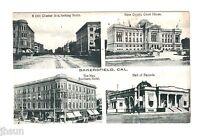 RARE VIEW Vintage Postcard/Street Scene Rustic Bakersfield CA/Chester Hotel LOOK