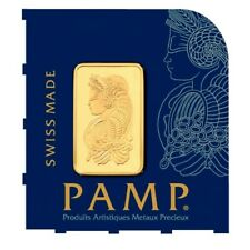 Gold Bar PAMP Lady Fortuna 1g (gram) Multicard - 99.99 % pure gold