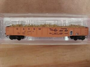 N Scale KADEE N SCALE COLLECTOR D&RGW 50' gondola with load  # 56424 NEW!