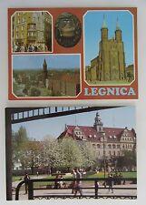 2x Legnica Polen Postkarten Lot ungelaufen postcards Poland ab/nach ~1980