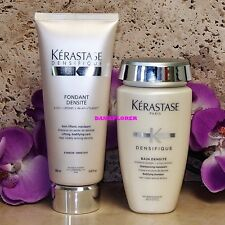 KERASTASE DENSIFIQUE BAIN &  FONDANT DENSITE 250 / 200 mL SUPER FRESH!! SEALED!!