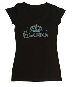 Women's Rhinestone T-Shirt Glamma with Crown in Size - Sm to 3X