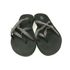 Teva Women's Mush Olowahu Flip-Flop Open Toes Heel Multicolored Gray Size:8 US