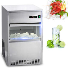60 Lbs Ice Maker Countertop Commercial Bar House Auto Stainless Steel Machine