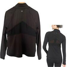 Womens Athleta Powervita Elation Zip Front Jacket Black SIZE Large