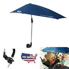 Clamp On Umbrella Shade Sun Block Camping Tent Blue Beach Chair Stroller Canopy