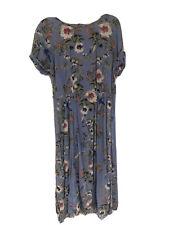 Vestido De Verano H&M Azul Floral Tamaño 12