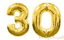 Large Number 30 Gold Balloons 30th Birthday Anniversary Party Foil Decoration