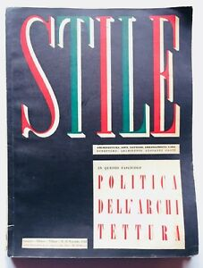 Lo Stile Rivista Architettura Gio Ponti  35 Novembre 1943 Emilio Pifferi Picasso