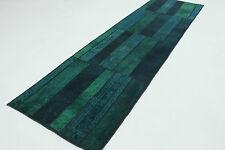 Orient Tapis Patchwork d'entrée Vintage bleu 310x80 moderne Used Look 167111