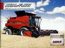 Case Axial Flow 130 11 / 2012 catalogue brochure moissonneuse batteuse combine