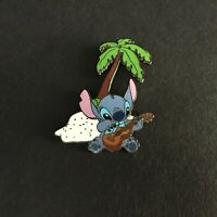Stitch Playing the Ukulele Under a Palm Tree Disney Pin 17987