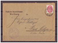 Deutsches Reich, Dienstmarke MiNr. 118 EF KBS Weilburg 06.06.1930