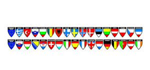 Truck Flags Decoration Strip Country Countries 2 Face Windshield Interior Banner