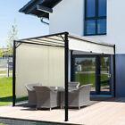 3 x 3m Garden Gazebo Metal Frame Pergola Adjustabl Canopy Sun Protection Outdoor
