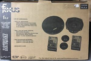 """1 Pair NEW Old School Earthquake FC-5.2 5.25"""" Component speakers,Rare,NOS,NIB"""
