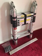 Telescopic Ladder - 3.8M Folding Extendable Collapsible Step Ladders Securing