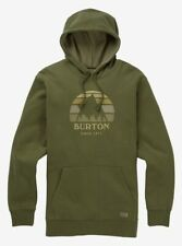 BURTON snowboard Underhill Fleece Pullover Hoodie Mens MED Dusty Olive New w/Tag