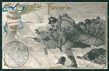 Bologna Militari Fanteria cartolina QQ9127