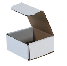 "1-500 Choose Quantity 4x4x2 Corrugated White Mailers Packing Boxes 4"" x 4"" x 2"""