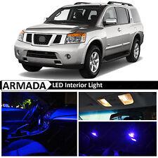 19x Blue Interior LED Light Package Kit for 2004-2015 Armada