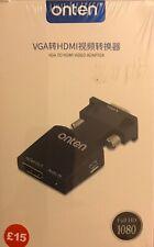 VGA to HDMI Adapter Converter,Male VGA in Female HDMI 1080p Video Audio Adapter
