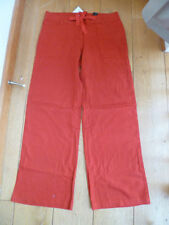 Straight Leg Linen Other Casual Trousers NEXT for Women