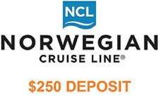 NCL NORWEGIAN CRUISE LINE $250 DEPOSIT / VOUCHER / CERTIFICATE SEPT, 2021