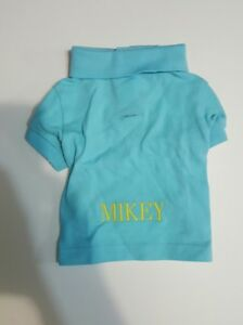 """RALPH LAUREN COTTON MESH DOG POLO SHIRT Turquoise DOG OUTFIT (Sz: SMALL) """"MIKEY"""""""