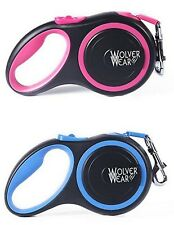 All Belt Retractable Dog Leash. 16' long, up to 55 lbs. Reflective colored belt