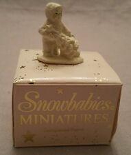 Dept 56 Snowbabies Bisque Figurine I'll Put Up The Tree 6800-4 MIB