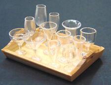 1:12 Scale 2 x Tumdee Dolls House Cocktail Drink Wine Liquor Plastic Glasses