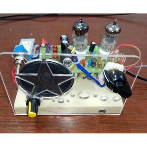 220V Electronic Vacuum Super Regenerative FM Tube Radio Receiver DIY Kit 6J1+6J1