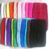 "12"" Chest Wrap Baby Girl Elastic Tutu Tube Crochet headban Top d 20 Color Large"