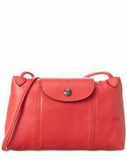 Longchamp Le Pliage Cuir Leder Damentasche Umhängetasche Crossbody Bag - Rot