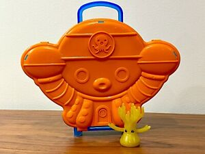 The Octonauts Sea Creature carrying case and CHRISTMAS GOLDEN CORAL COMPLETE SET