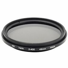 49mm Slim Fader Variable ND Filter Neutral Density Adjustable ND2 to ND400 LF155