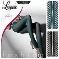 Collant LEVANTE calza fashion retina moda  50 den  E380 verde nero