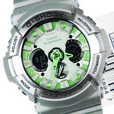 Casio G-Shock GA-200SH-8A Silver Analog Digital Mens Watch Diver 200M GA-200 New