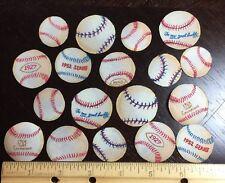 Baseballs Retro Lot 35 Iron-On Small Fabric Appliques Rare Timeless Treasures
