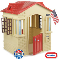 Little Tikes Cape Cottage Playhouse play house Backyard Outdoor Red Kids Tan